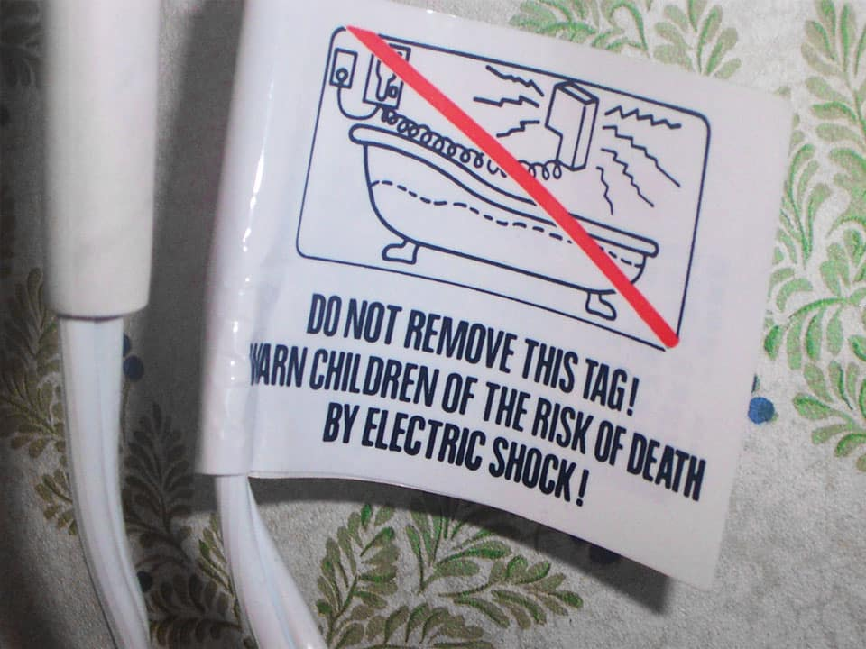 Electrical Shock tag