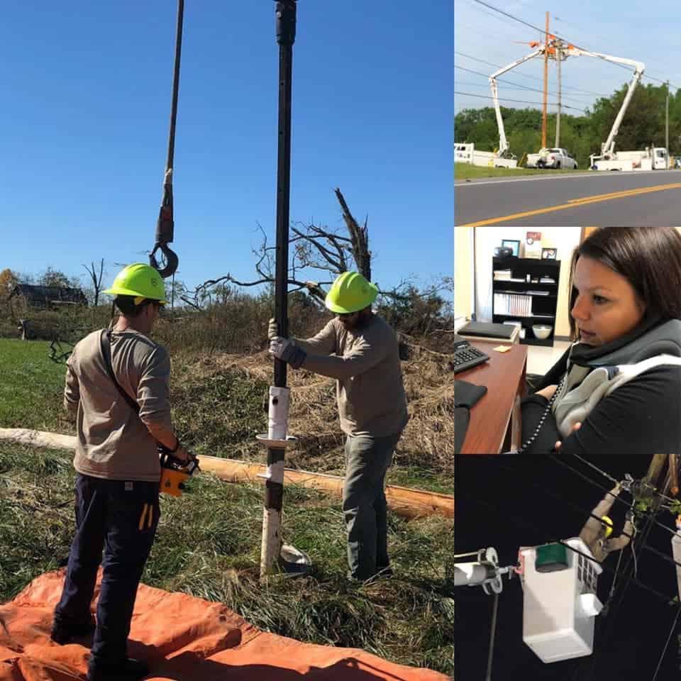 DREMC reports much progress made Tuesday restoring power