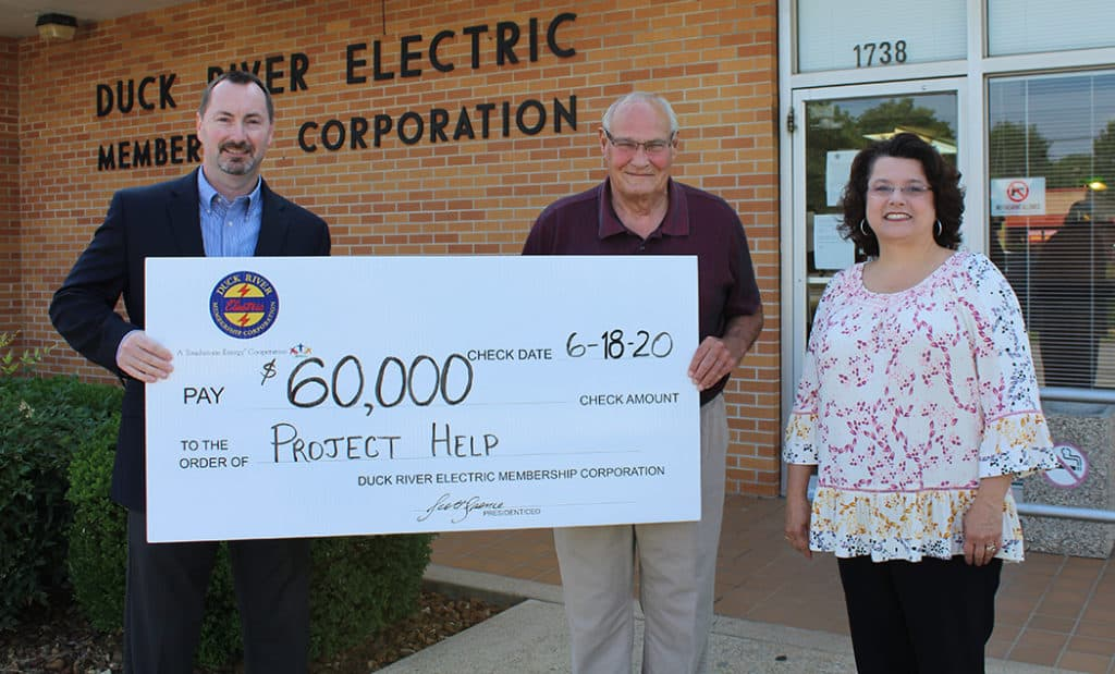 Franklin County Project Help Check Ceremony