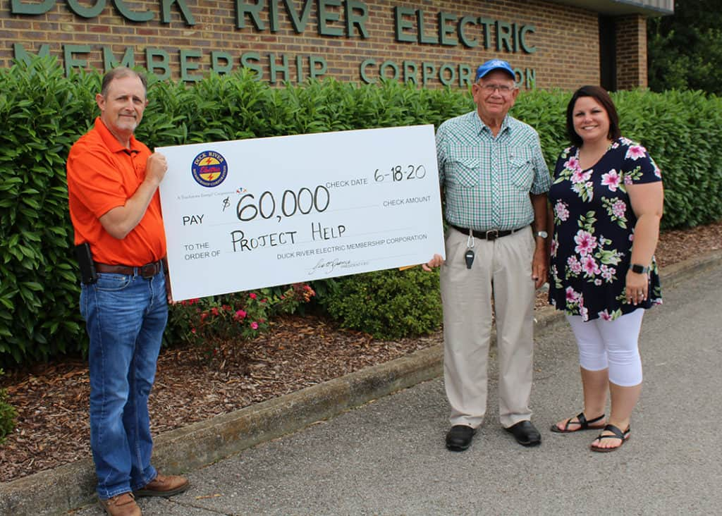 Marshall County Project Help Check Ceremony
