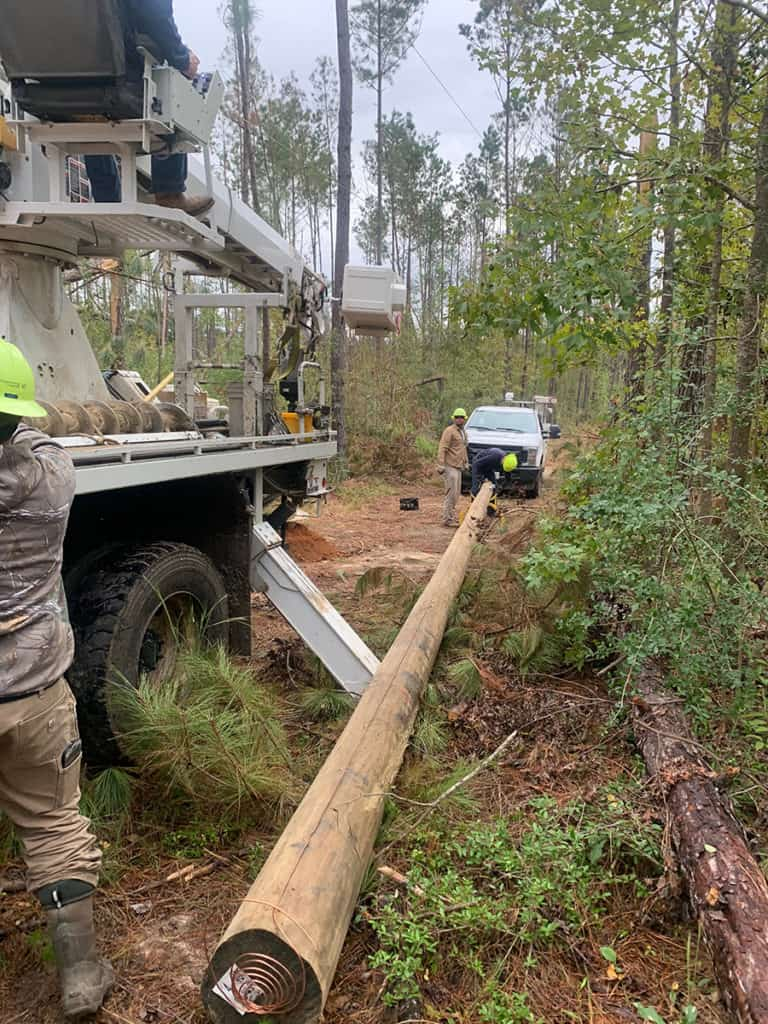 Installation of new power lines