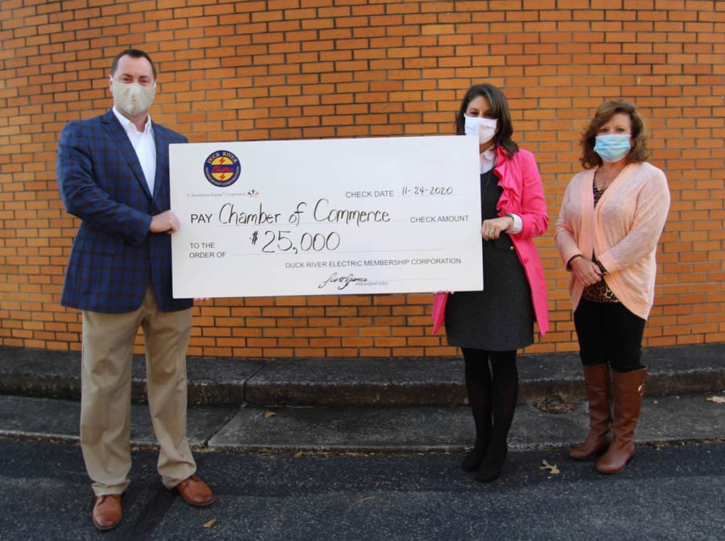 Coffee County Chamber of Commerce Check Ceremony