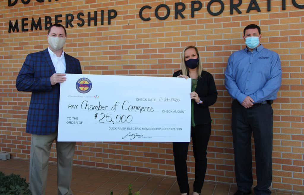 Franklin County Chamber of Commerce Check Ceremony