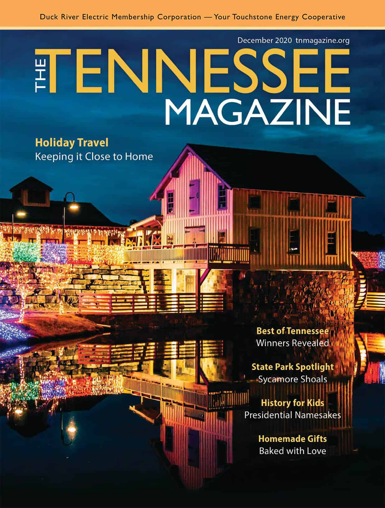 Tennesee Magazine December 2020 Cover