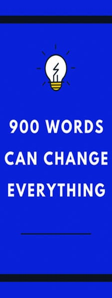 900 Words Writing Contest Banner